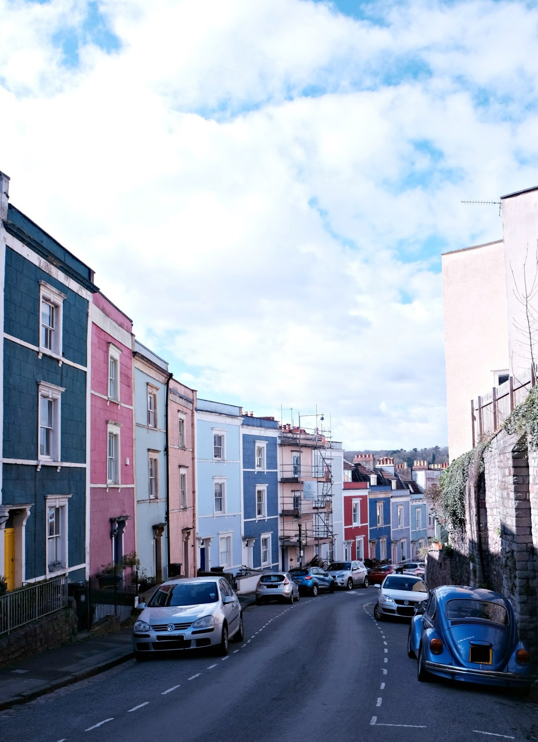 Picture of colourful house street in clifton.  48 hours in clifton itinerary.