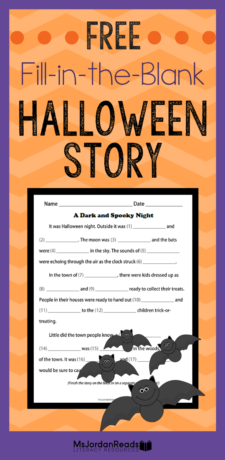 have a spooky halloween fill in the blank story