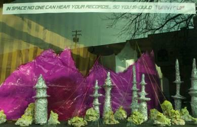 aluminium, foil, cellophane, space, U.F.O., ufos, landlocked, music