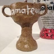 trophy, sculpture, ceramics, football, sports, clay, craft
