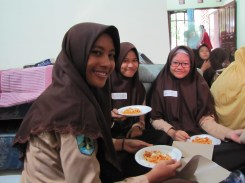 I'll do anything to see my siswa [students] smile. :)