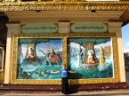 With some murals at Schwedagon Pagoda.