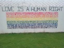 Wall art at Tyler's international school.