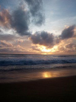 A lovely sunset at Naiyang Beach, Phuket.