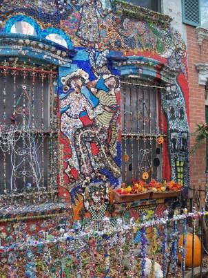 Heavily embellished house. Artist is Susan Gardner.