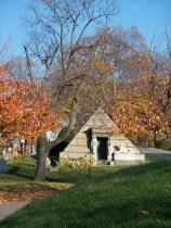 Pyramid mausoleum.