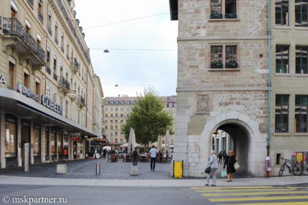 Площадь Place du Molard в Женеве