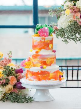 Tulsa wedding cake, Water color wedding, rustic wedding , unique wedding, trending wedding cakes, 2018 wedding cake, Tulsa Bride, custom cakes, buttercream cakes, pretty wedding cakes,