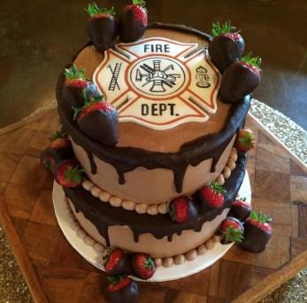 fire dept cake