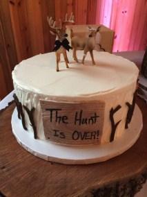 grooms deer cake