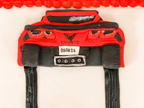 car cake , grooms cake