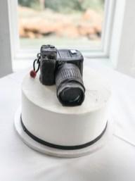 grooms cake , camera cake at the View at Hillside Barn