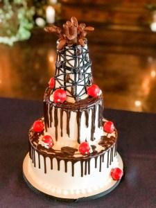 oil derrick grooms cake