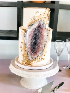 wedding cake at a local brewery
