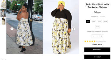 Twirl Maxi Skirt from Society+