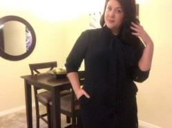 Plus size fashion blogger wearing LURAP dress