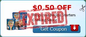 $0.50 off Progresso Recipe Starters Cooking Sauce