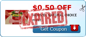 $0.50 off HORMEL NATURAL CHOICE meat