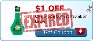 $1.00 off ONE Scope Outlast 750mL or larger