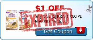 $1.00 off any ONE (1) KRAFT RECIPE MAKERS Product