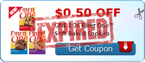 $0.50 off ONE BOX Fiber One™ Soft-Baked Cookies