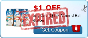 $1.00 off any One (1) Silk Almond Half Gallon