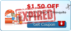 $1.50 off any OFF! Clip-On™ Mosquito Repellent