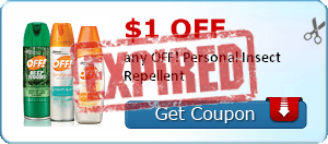 $1.00 off any OFF! Personal Insect Repellent