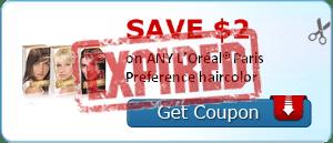 SAVE $2.00 on ANY L'Oréal® Paris Preference haircolor