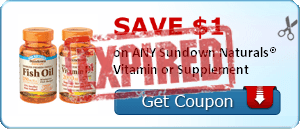 SAVE $1.00 on ANY Sundown Naturals® Vitamin or Supplement