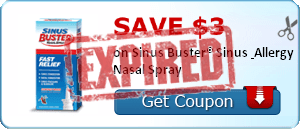 SAVE $3.00 on Sinus Buster® Sinus & Allergy Nasal Spray