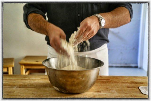 Bertinet making bread, Bath