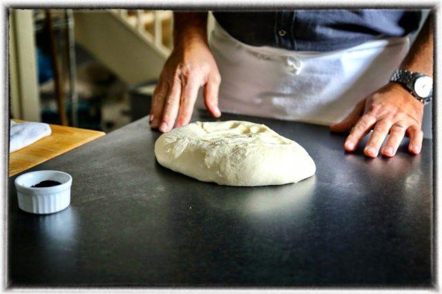 Bertinet, making squid ink bread, Bath