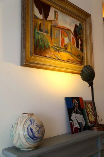 Quentin Bell painting, David herbert's Secret tea party
