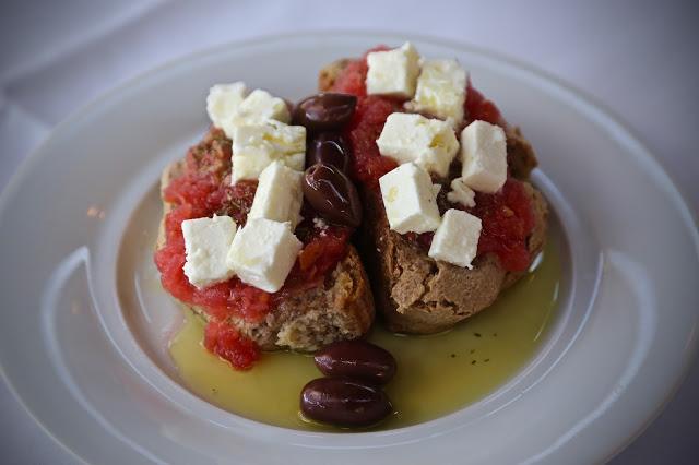 Dakos Cretan rusk salad recipe, blue palace hotel