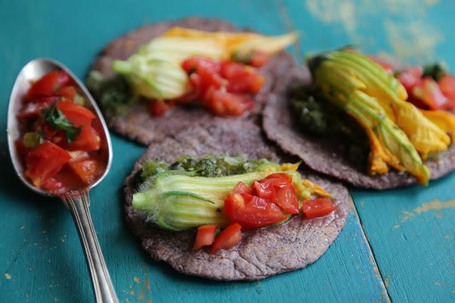 Blue corn tacos