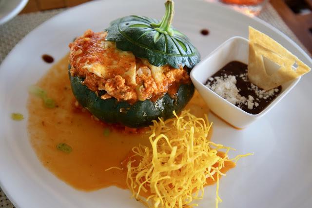 vegetarian option at Las Nubes,  holbox,yucatan, mexico