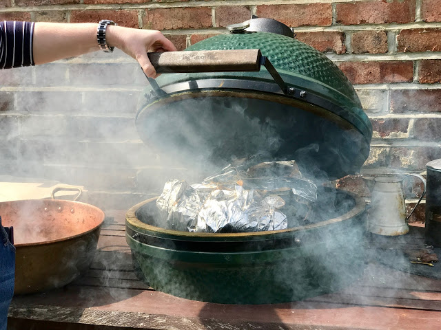Making a zacahuil, giant tamale on my big green egg
