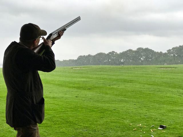 clay pigeon shooting,  pure food camp, Skane, Sweden