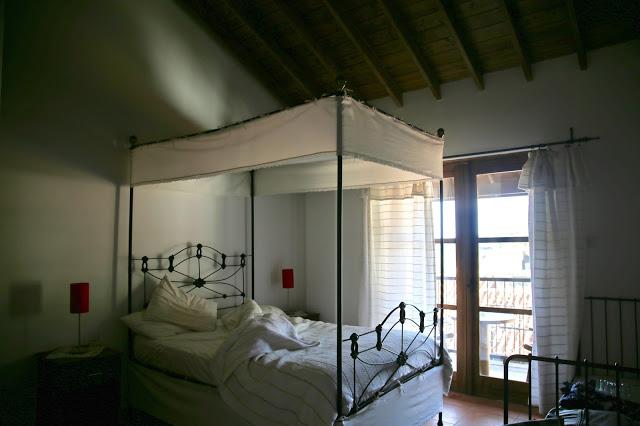 village inn bed,  Cyprus pic: Kerstin Rodgers/msmarmitelover.com