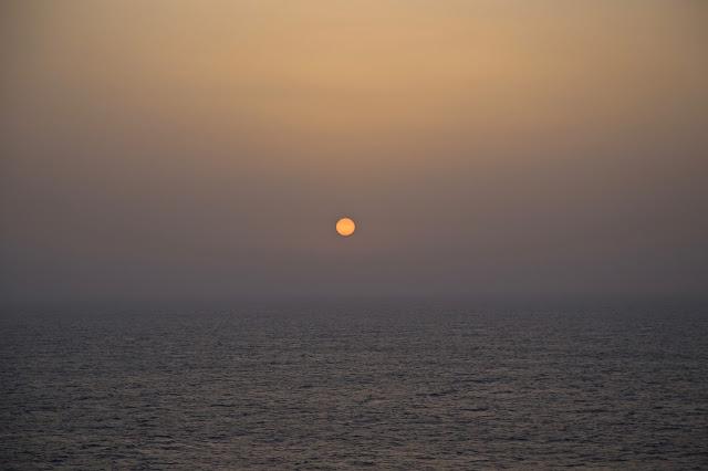 sunset.  Britannia, P and O cruise ship. pic: Kerstin Rodgers/msmarmitelover