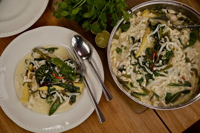 Vaguely Thai dish/Boating on the Norfolk broads, pic: Kerstin Rodgers/msmarmitelover.com