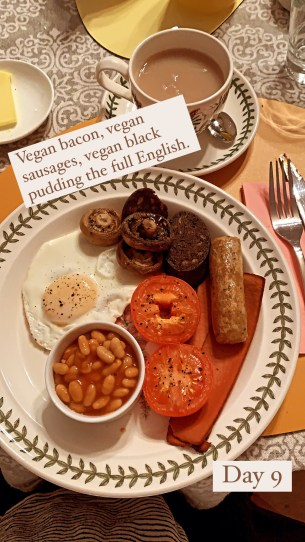 Another full English at the B&B