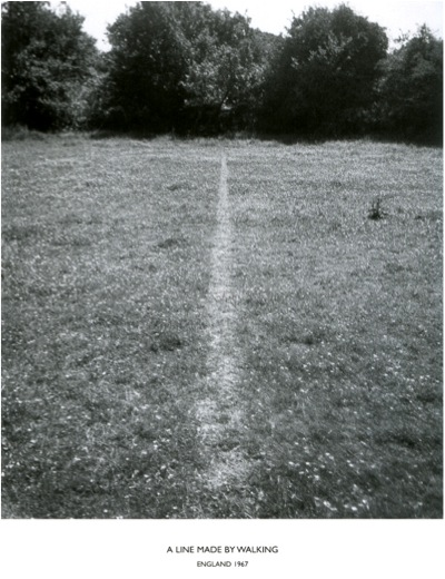 Long-A line made by walking