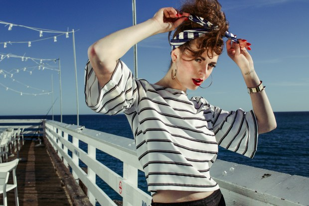 Strength, Fashionista, Stripes, Nautical, Beach, Ocean, Paul Mitchell, Paul Mitchell Yacht Club, Head Wrap,