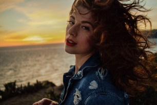 Golden Hour, Wind Blown Hair, Malibu Sunset, Beauty, Distressed Denim, Lifestyle,