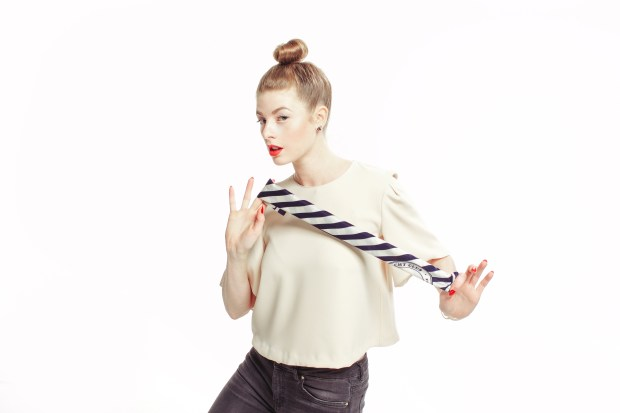 Bow Tie, Nautical, Stripes, Bell Sleeve, Trends, Paul Mitchell, Red White and Blue, Stripes, Silk Scarf Tutorial, Hair Tutorial, Maverick, Muse,