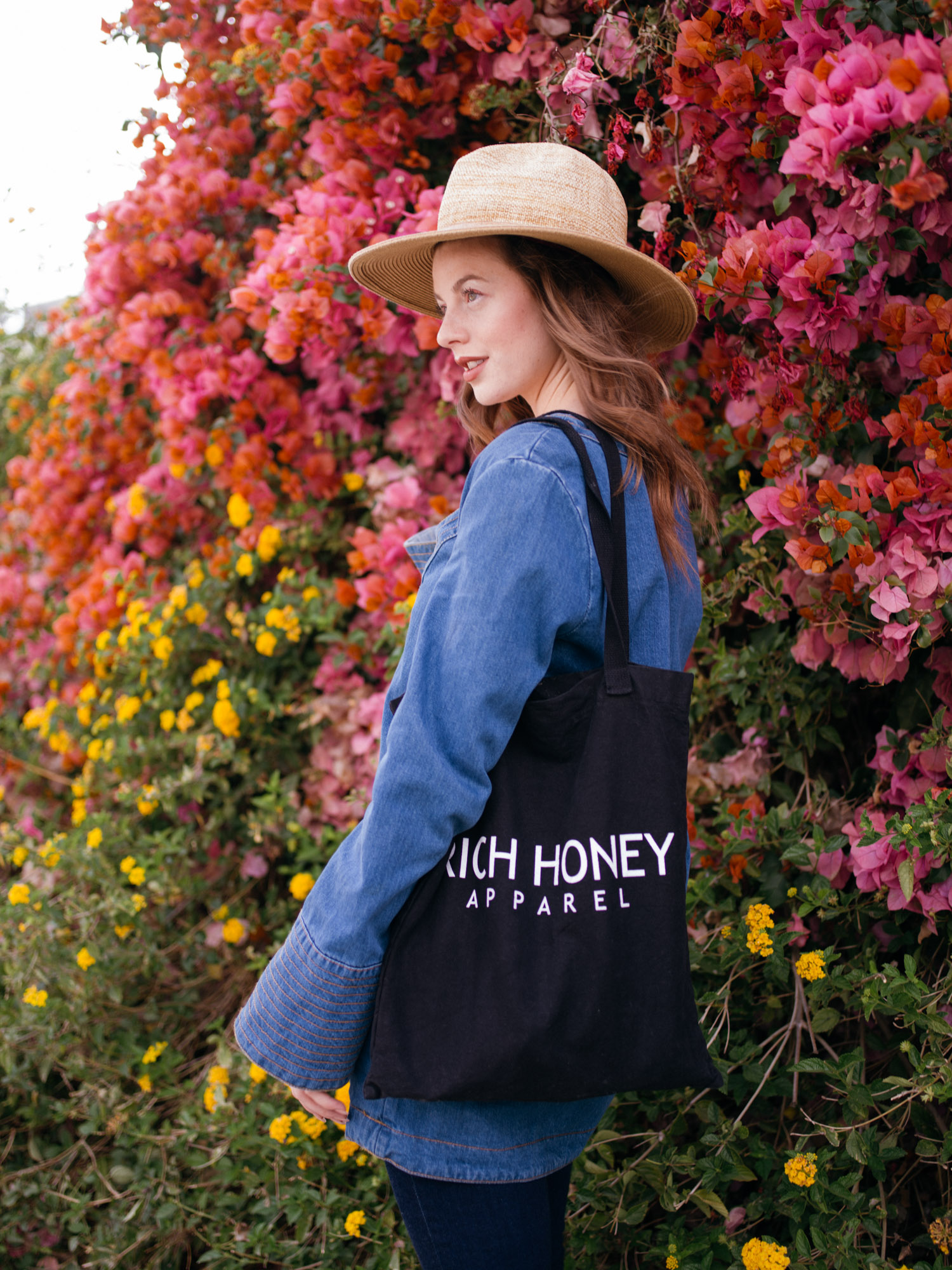 denim, made in la, denim on denim, platforms, flowers, farmers market, bell sleeves, free people, fashionista, lifestyle blogger, personal style, casual, chic, comfy, cuffed,