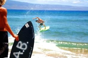 skim. kaanapali, hawaii.