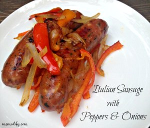 Italian sausage with peppers and onions